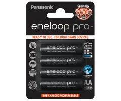 AA/P6 Eneloop Pro genopladelig 2500mAh batterier