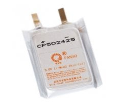 Fanso 3V lithium batteri 550mAh ultra tynd