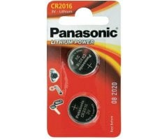 CR2016/2BP Lithium Knapcelle batteri Panasonic