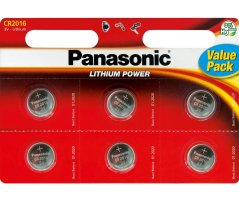 CR2016/6BP Lithium Knapcelle batteri Panasonic
