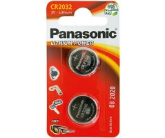CR2032/2BP Lithium Knapcelle batteri Panasonic