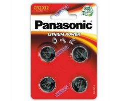 CR2032/4BP Lithium Knapcelle batteri Panasonic