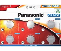 CR2032/6BP Lithium Knapcelle batteri Panasonic