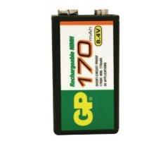 GP 9V batteri Ni-MH 170mAh 6F22
