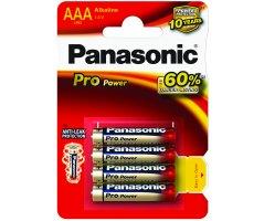 AAA/LR03 Pro Power Panasonic Alkaline 4-foliepak