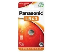LR43 Panasonic Alkaline A86/AG12 batteri