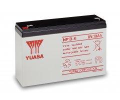6V/10Ah Yuasa Blybatteri NP10-6