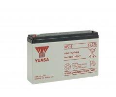 6V/7Ah Yuasa Blybatteri NP7-6