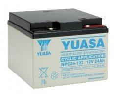 12V/24Ah Yuasa Blybatteri NPC24-12