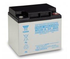 12V/38Ah Yuasa Blybatteri NPC38-12I