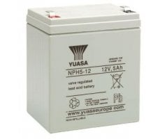 12V/5Ah Yuasa Blybatteri NPH5-12
