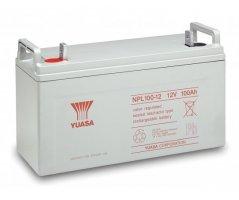 12V/100Ah Yuasa Blybatteri NPL100-12FR