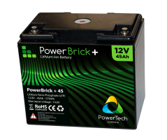 PowerBrick LiFePO4 batteri 12V/45Ah