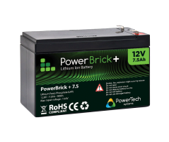 PowerBrick LiFePO4 batteri 12V/7,5Ah
