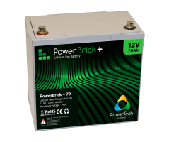 PowerBrick LiFePO4 batteri 12V/70Ah
