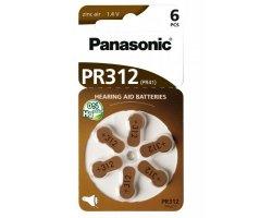 PR312HEP Panasonic batteri høreapparat 6 stk.