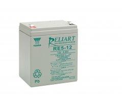 12V/5Ah Yuasa Blybatteri RE5-12