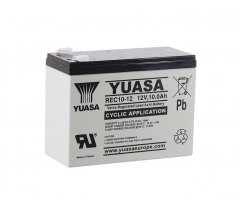 12V/10Ah Yuasa Blybatteri REC10-12