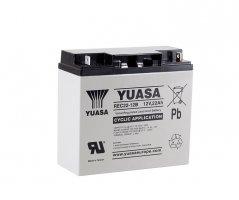 12V/22Ah Yuasa Blybatteri REC22-12B