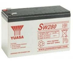 12V/7,8Ah Yuasa Blybatteri SW280