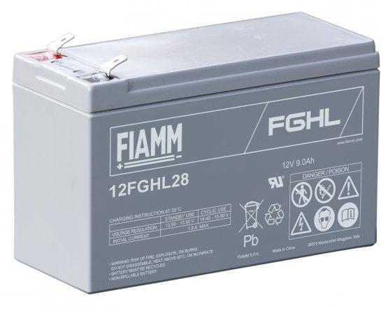 12V/7.2Ah FIAMM 10 år Højstrøm Blybatteri 12FGHL28