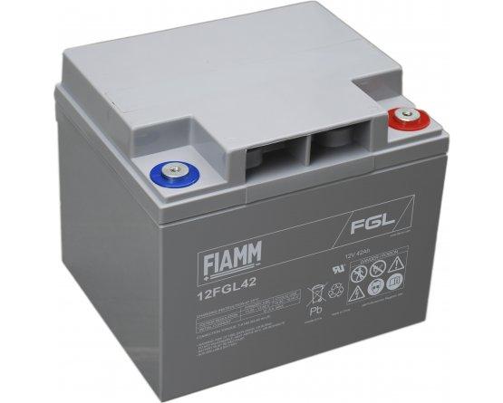 12V/42Ah FIAMM 10 års Blybatteri 12FGL42