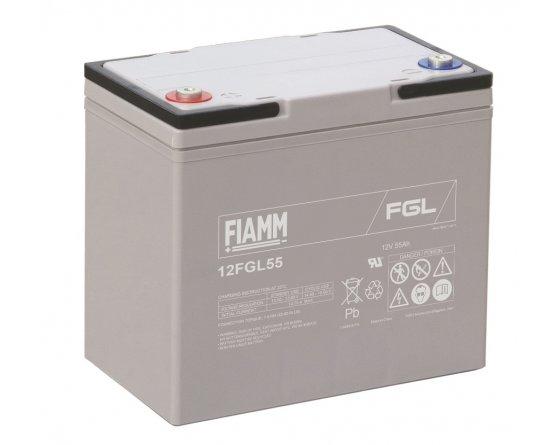 12V/55Ah FIAMM 10 års Blybatteri 12FGL55