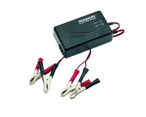 Blylader 12V/2x2A 90-264VAC m.clips 2-kanaler