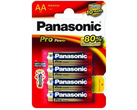 AA/LR6 Pro Power Panasonic Alkaline 4-blisterpak