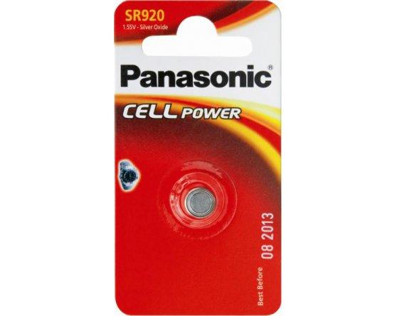 SR920 Sølvoxid Knapcelle batteri Panasonic
