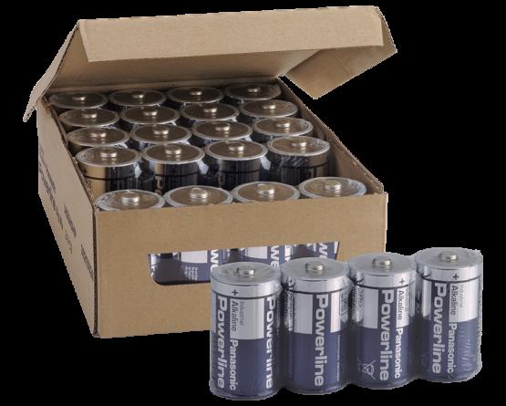 LR20/D-Size Powerline batteri/4 pak folie