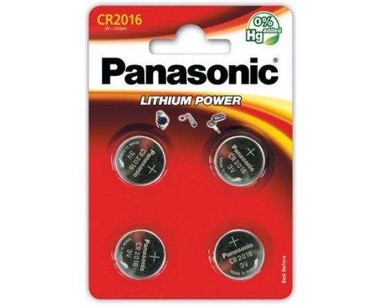 CR2016/4BP Lithium Knapcelle batteri Panasonic