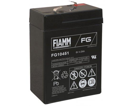 6V/4,5Ah FIAMM 5 års Blybatteri FG10451
