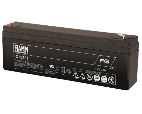 12V/2Ah FIAMM 5 års Blybatteri FG20201