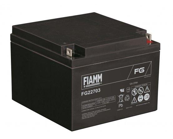 12V/27Ah FIAMM 5 års Blybatteri FG22703