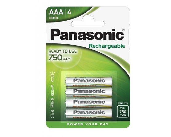 AAA/P03E Panasonic genopladelig 750mAh