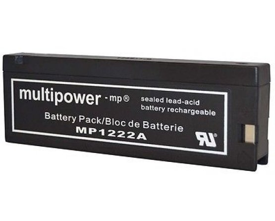 12V/2Ah Blybatteri Multipower lang model