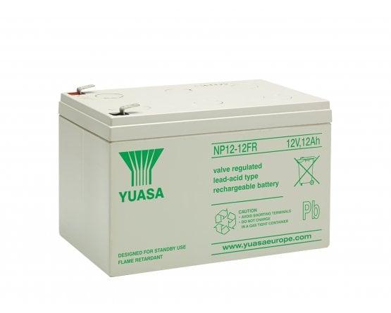 12V/12Ah Yuasa Blybatteri NP12-12FR