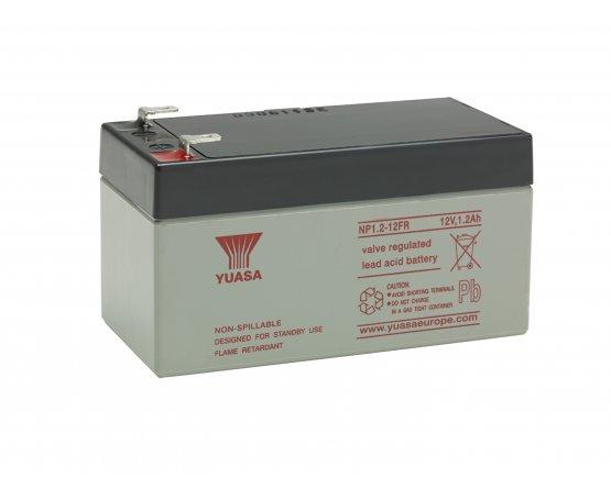 12V/1,2Ah Yuasa Blybatteri NP1.2-12FR