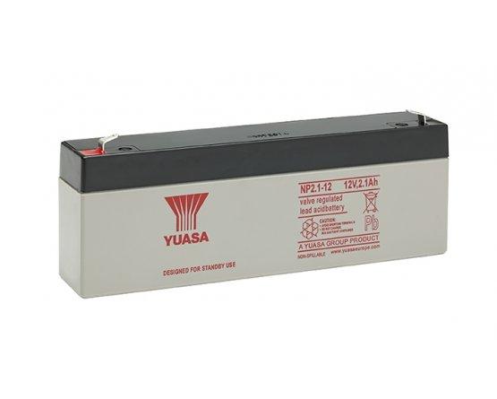 12V/2,1Ah Yuasa Blybatteri NP2.1-12