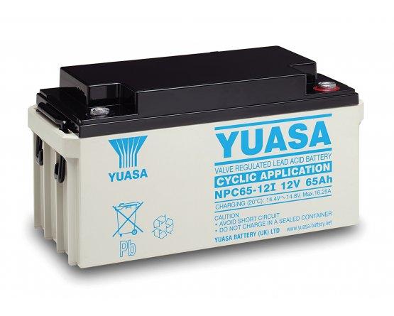 12V/65Ah Yuasa Blybatteri NPC65-12
