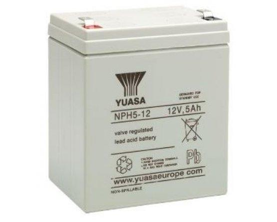 12V/5Ah Yuasa Blybatteri NPH5-12(FR)