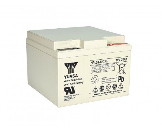 12V/24Ah Yuasa Blybatteri NPL24-12FR
