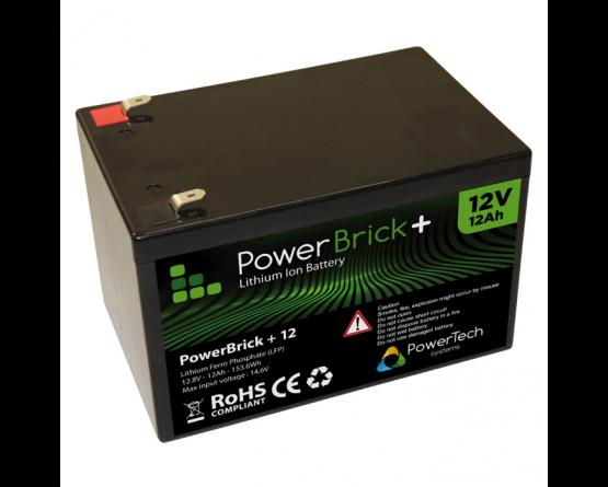PowerBrick LiFePO4 batteri 12V/12Ah