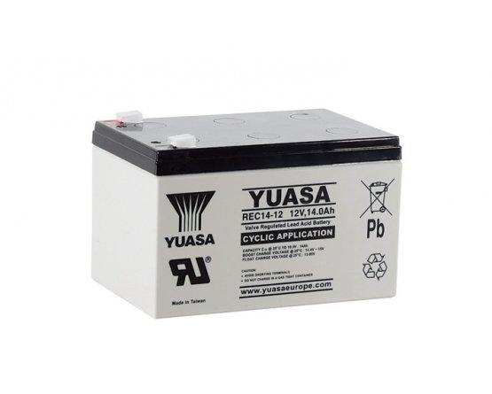 12V/14Ah Yuasa Blybatteri REC14-12