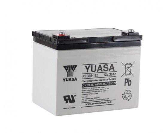 12V/36Ah Yuasa Blybatteri REC36-12I