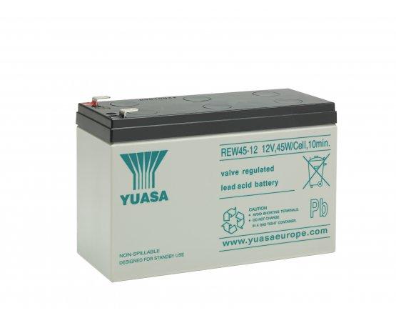 12V/8Ah Yuasa Blybatteri REW45-12