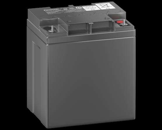 12V/24Ah Panasonic Blybatteri 10-12år LC-P1224AP