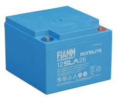12V/24Ah FIAMM Blybatteri 12SLA26