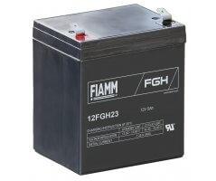 12V/5Ah FIAMM 5 års Højstrøm Blybatteri 12FGH23